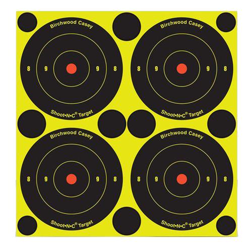 "Birchwood Casey Shoot-N-C Self-Adhesive Paper 8"" Bullseye Black 6 Pack 34805"