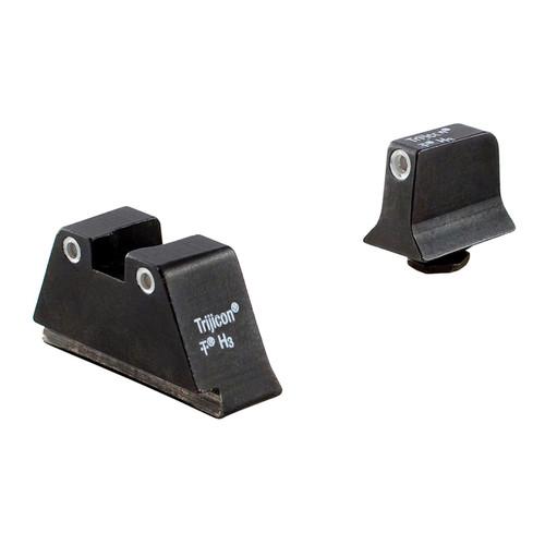 Trijicon For Glock Suppressor Night Sight Set - White Outline - Green Lamps