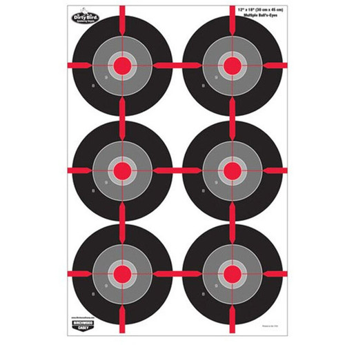 "Birchwood Casey Dirty Bird Hanging Tagboard 12"" x 18"" Bullseye 8 Pack 35705"