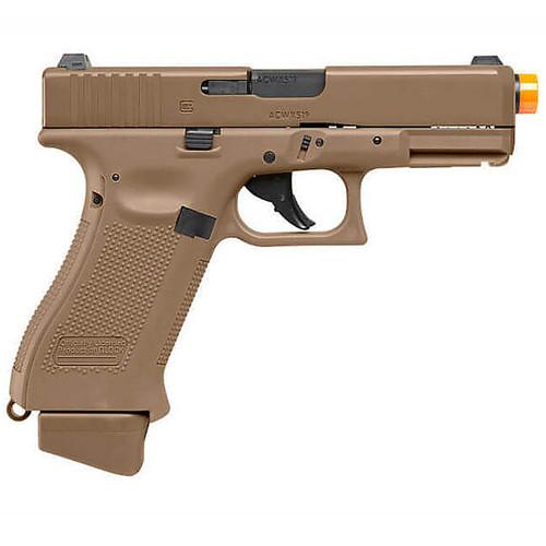 Elite Force Glock G19x Gen Co2 Airsoft Pistol Half Blow Back - Coyote Tan