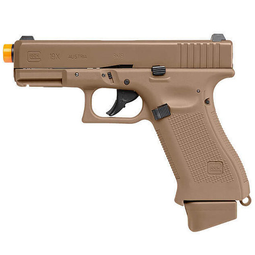 Elite Force Glock G19x Gen Co2 Airsoft Pistol Half Blow Back - Coyote Tan