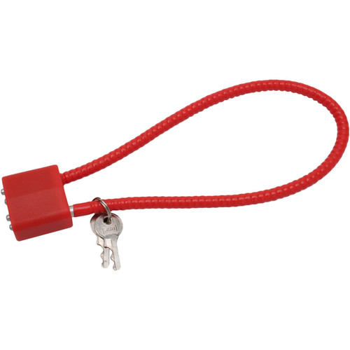 "DAC 15"" CA DOJ Approved Cable Lock Red Md: Cl012014"