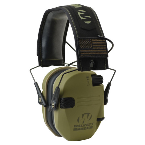 Walkers Razor Patriot Electronic Earmuff 23 dB OD Green GWPRSEMPAT