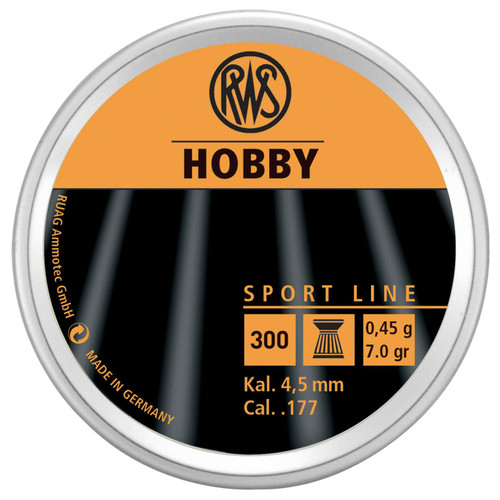 RWS Hobby Sport Pellets .177 Pellet Lead 300 2317400