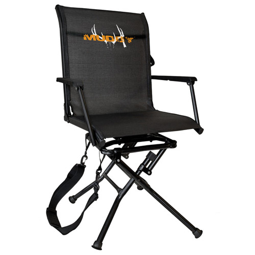 Muddy Swivel-Ease Folding Ground Seat with Flex Tek Seat 360 degree Pivot