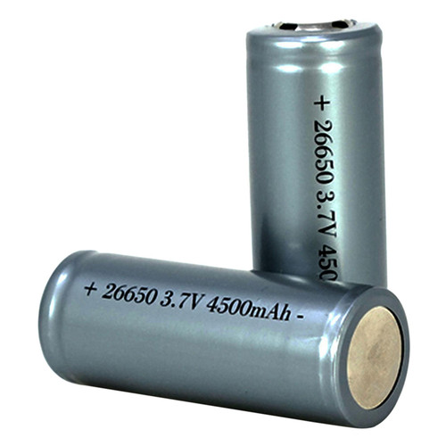 Predator Tactics 26-650 3.7V Rechargeable Lithium Ion Battery 2 Pack