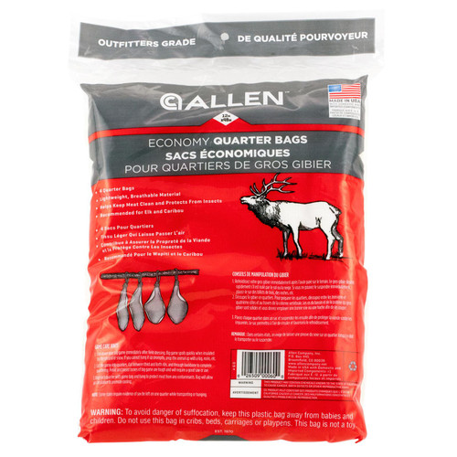 "Allen 60 Quarter Bag Quarter Bags Mesh Net 48"" x 12"" Tan"