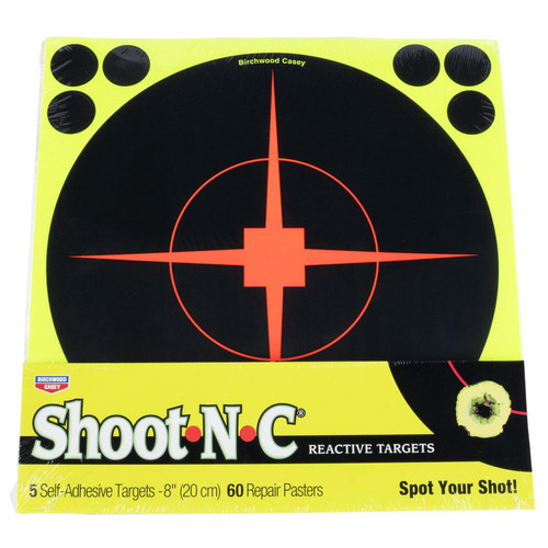 "Birchwood Casey Shoot-N-C Paper 8"" Bullseye Black 5 Pack"