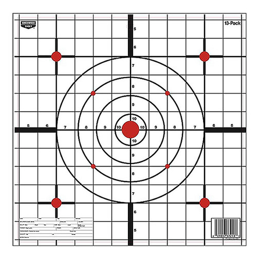 "Birchwood Casey EZE-Scorer Sight-In Hanging Paper 12"" Bullseye 13 Pack 37213"