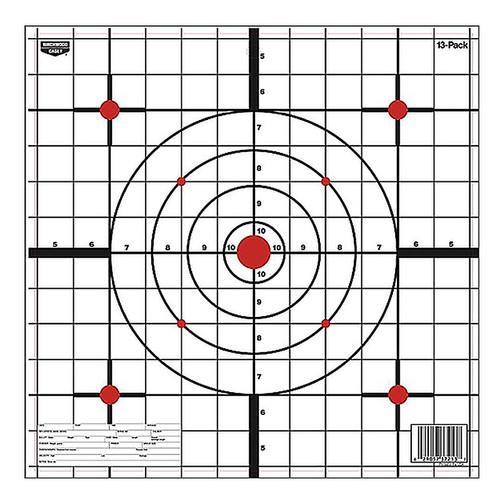 """Birchwood Casey EZE-Scorer Sight-In Hanging Paper 12"""" Bullseye 13 Pack 37213"""