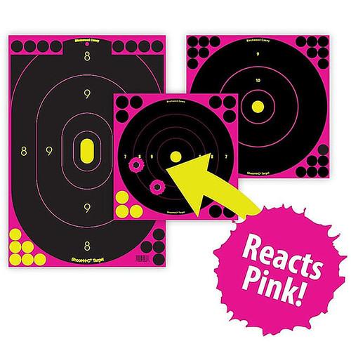 "Birchwood Casey Shoot-N-C Pink Targets 12"" x 18"" Silhouette Package of 5"
