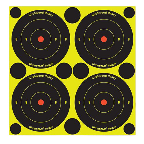 "Birchwood Casey Shoot-N-C Self-Adhesive Paper 6"" Bullseye Black 60 Pack 34550"