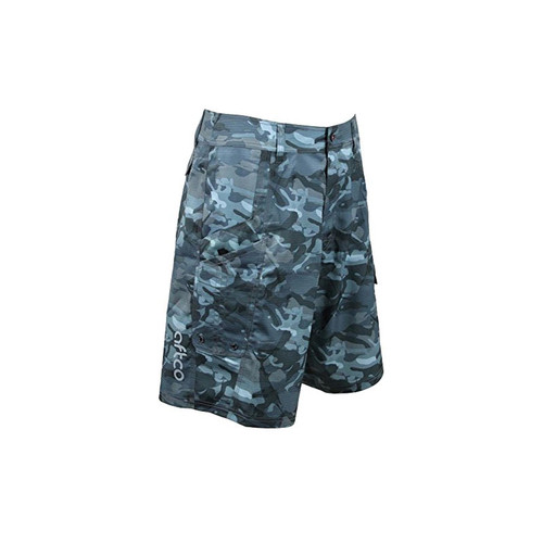 AFTCO Tactical Fishing Shorts Blue Camo