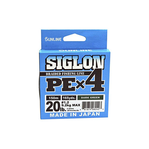 Sunline Siglon PEx4 Braid Dark Green 30lb 165yd