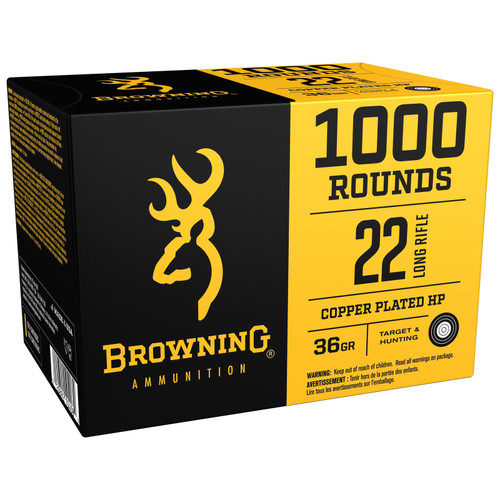 Browning B194122000 BPR  22 Long Rifle 36 GR  Hollow Point 1000 Rounds