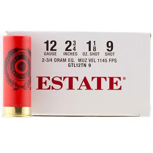 """Estate GTL12TN9 Dove Load  12 Gauge 2.75"""" 1-1/8 oz  9 Shot 25 Rounds"""