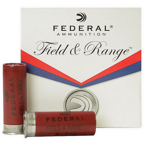 "Federal FR123NBS Field & Range 2.75"" 12ga  1 1/8oz 7.5 Shot 25 Rounds"