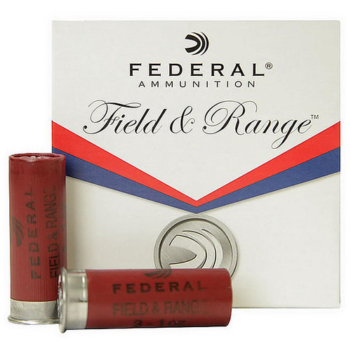 "Federal FRL20NBS7.5  Field & Range 20 Gauge Shotgun Shells 2.75""  7.5 25 Rounds"