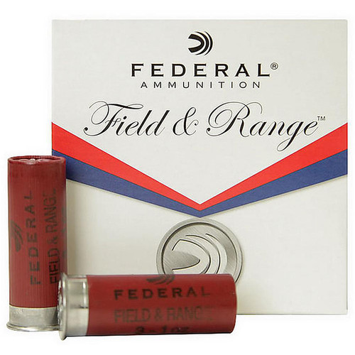 "Federal FRC12NBS 7.5  12 Ga Field and Range 2.75"" 1 1/8oz 8 Shot 25 Rounds"