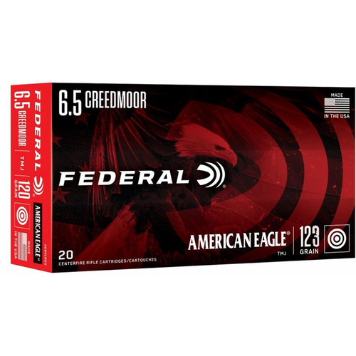 Federal AE65CRD4 American Eagle 6.5 Creedmoor Ammo 123 Grain Open Tip Match 20 Rounds