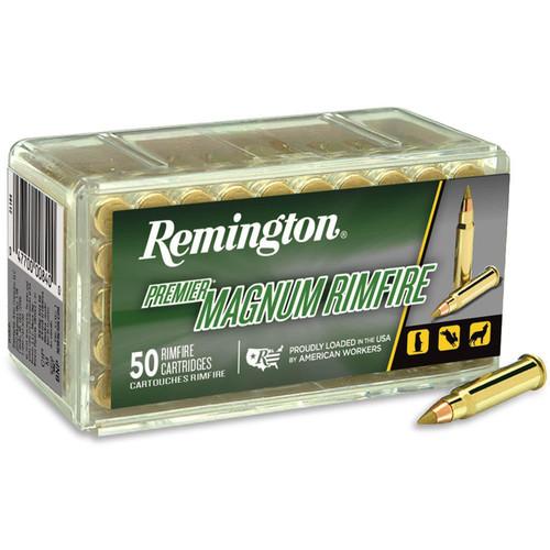 Remington PR17HM1 Premier 17 Hornady Magnum Rimfire (HMR) 17 Grain Hornady V-Max 50 Rounds