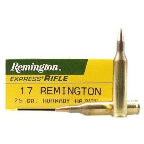 Remington R17R2 Express 17 Remington 25 Grain Hornady Hollow Point 20 Rounds