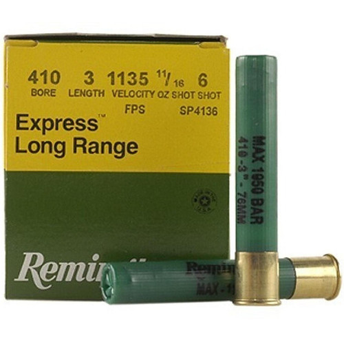 "Remington SP4136 Express Extra Long Range 410 Bore 3"" 11/16 oz 6 Shot 25 Rounds"