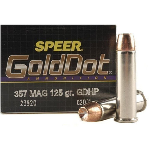 Speer 23920 Gold Dot 357 Magnum 125 Grain Jacketed Hollow Point 20 Rounds