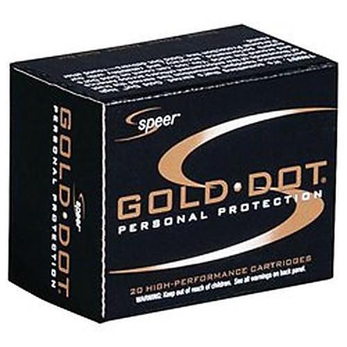 Speer 54000GD Gold Dot 10mm 200gr Hollow Point 20 Rounds