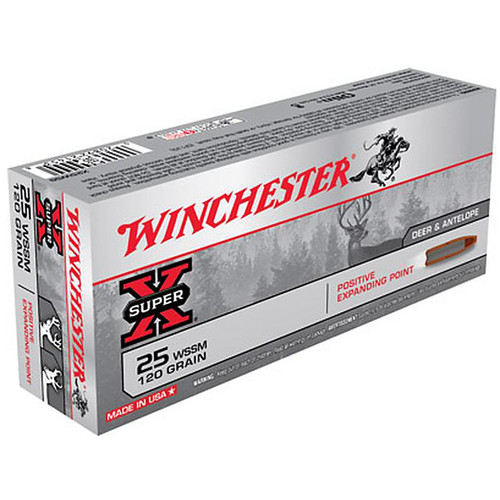 Winchester X25WSSM Super-X .25 WSSM 120 gr Positive Expanding Point 20 Rounds