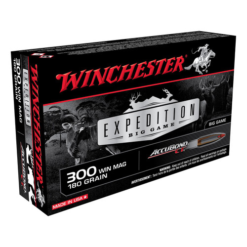Winchester S300WMCT Expedition Big Game 300 Win Mag 180 GR Nosler AccuBond 20 Rounds