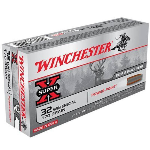 Winchester X32WS2 Super X .32 Winchester Special Jacketed Soft Point 170 GR 20 Rounds