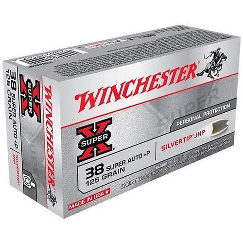 Winchester X38ASHP .38 Super+P 125 Grain Silvertip Hollow Point 50 Rounds