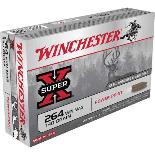Winchester Super X 264 Winchester Magnum 140 GR Power Point 20 Rounds