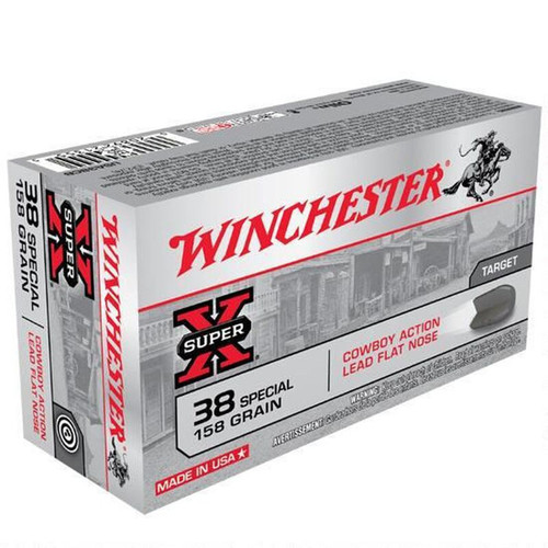 Winchester USA38CB Super X .38 Special 50 Rounds LFN 158 GR 50 Rounds