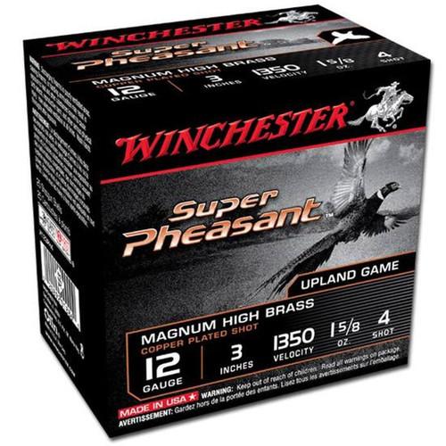 "Winchester X123PH4 Super Pheasant HV 12 Gauge 3"" 1-5/8 oz 4 Shot 25 Rounds"