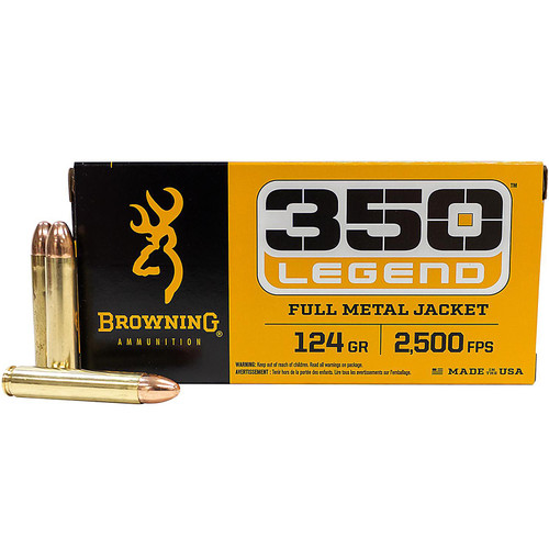 Browning Ammunition 350 Legend 124 gr Full Metal Jacket 20 Rounds