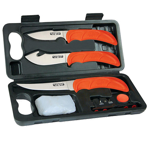 Outdoor Edge WL-6 Wild-Lite Compact 6-Piece Butcher Knives Kit
