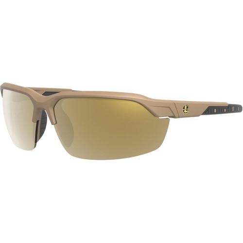 Leupold Tracer Polarized Sunglasses Shadow Tan Frame/Bronze Mirror/Yellow/Clear Lenses