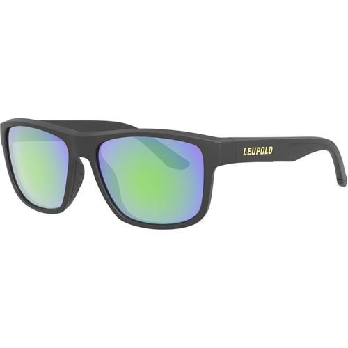 Leupold Katmai Polarized Sunglasses Matte Black Frame/Emerald Mirror Lens