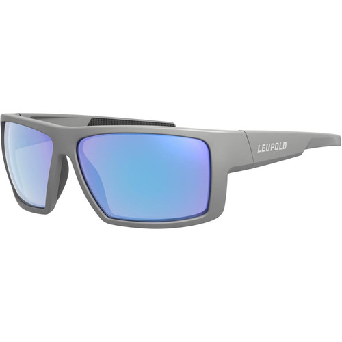 Leupold Switchback Polarized Sunglasses Matte Gray Frame/Blue Mirror Lens