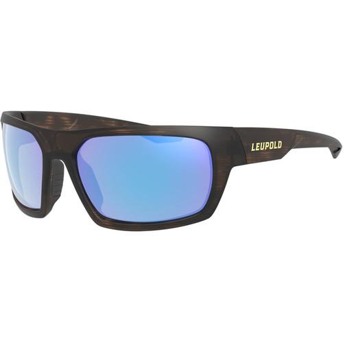 Leupold Packout Polarized Sunglasses Matte Tortoise Frame/Blue Mirror Lens