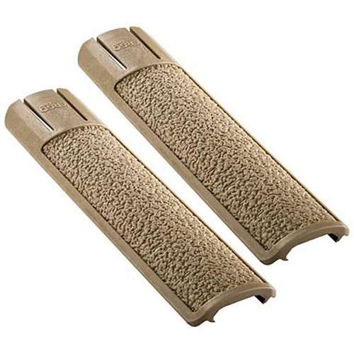 Ergo Grip Picatinny Rail Covers 15 Slot Length Polymer FDE 2 Pack 4335DE