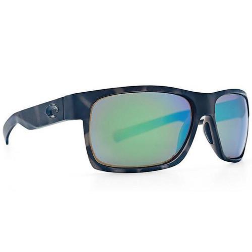 Half Moon Green Mirror 580G Wrap Sunglasses