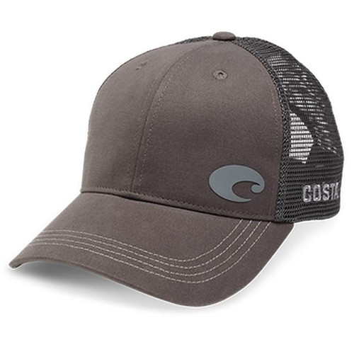 Costa Offset Logo Trucker Hat Gray One Size