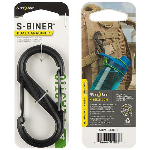 NITE IZE S-Biner Plastic Dual Carabiner #4 Black