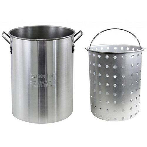 The Metal Ware Corp 30 Qt. Aluminum Pot With Strainer Basket