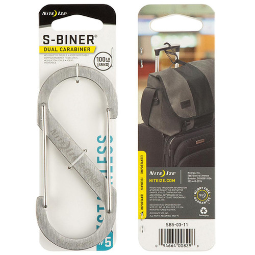 NITE IZE S-Biner Dual Carabiner #5 Stainless