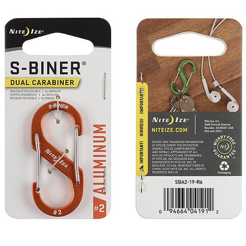 NITE IZE S-Biner Aluminum Dual Carabiner #2 Orange