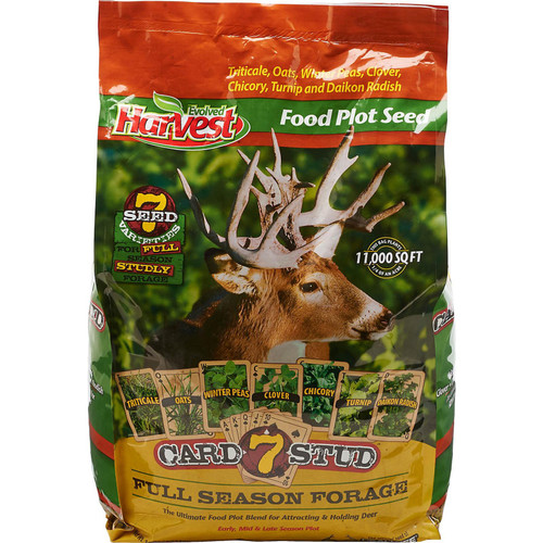 Evolved Harvest 7 Card Stud Food Plot Blend, 1/4 Acre